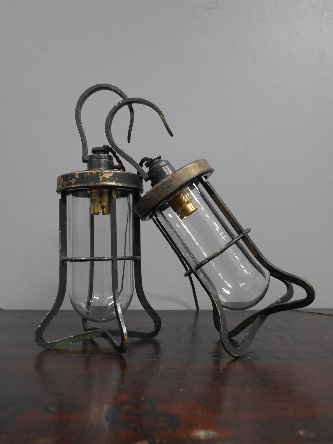 Oversized Brass Inspection Lamps