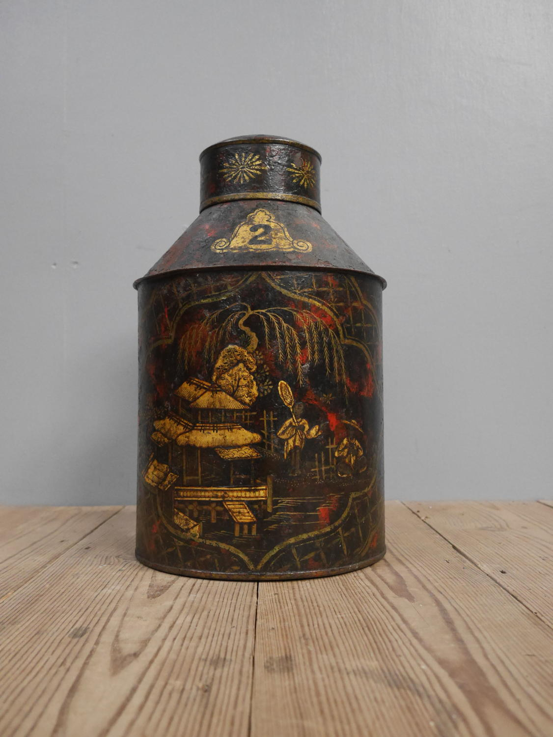 Chinoiserie Tea  Canister