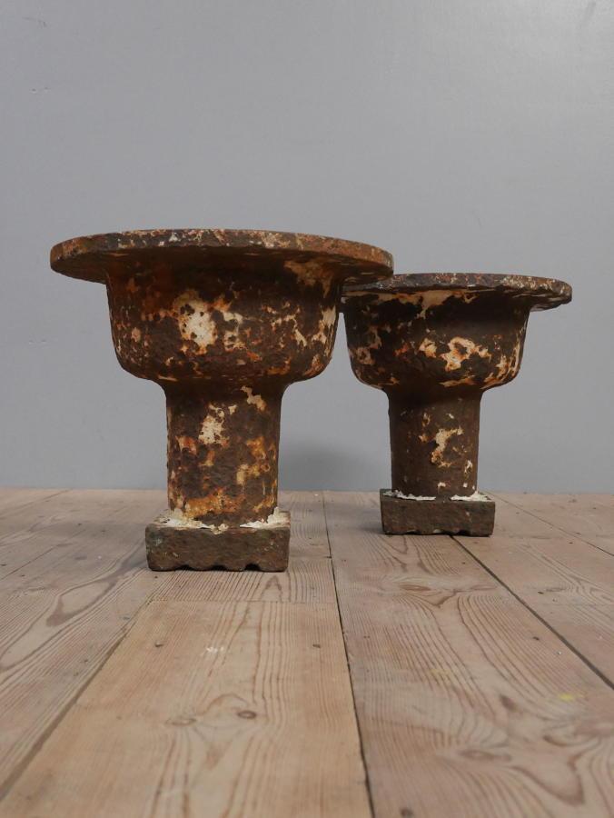 Victorian Cast Iron Urns