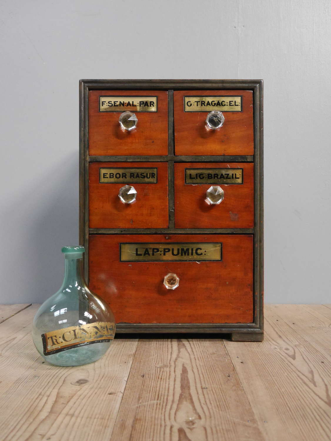 Small Bank Of Apothecary Drawers