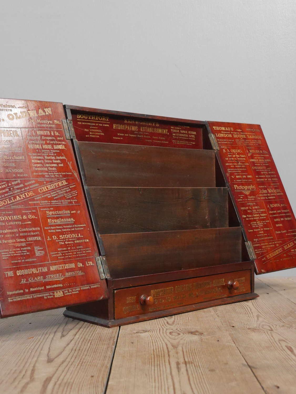 Mahogany Advertising Display