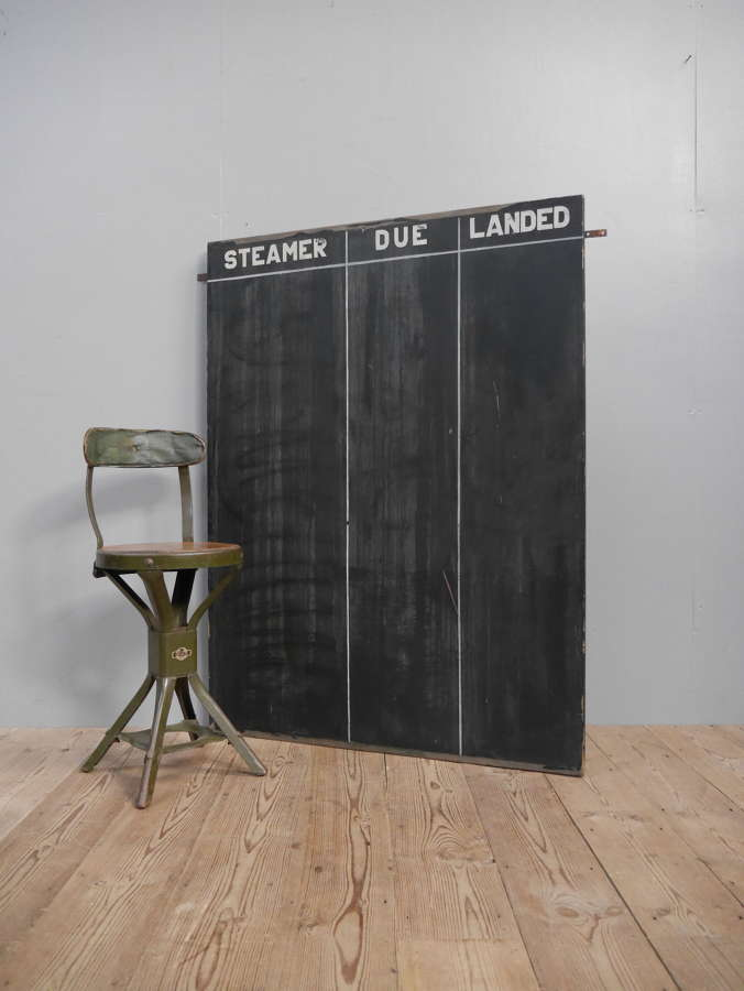 Large 1948 Dock Yard Blackboard