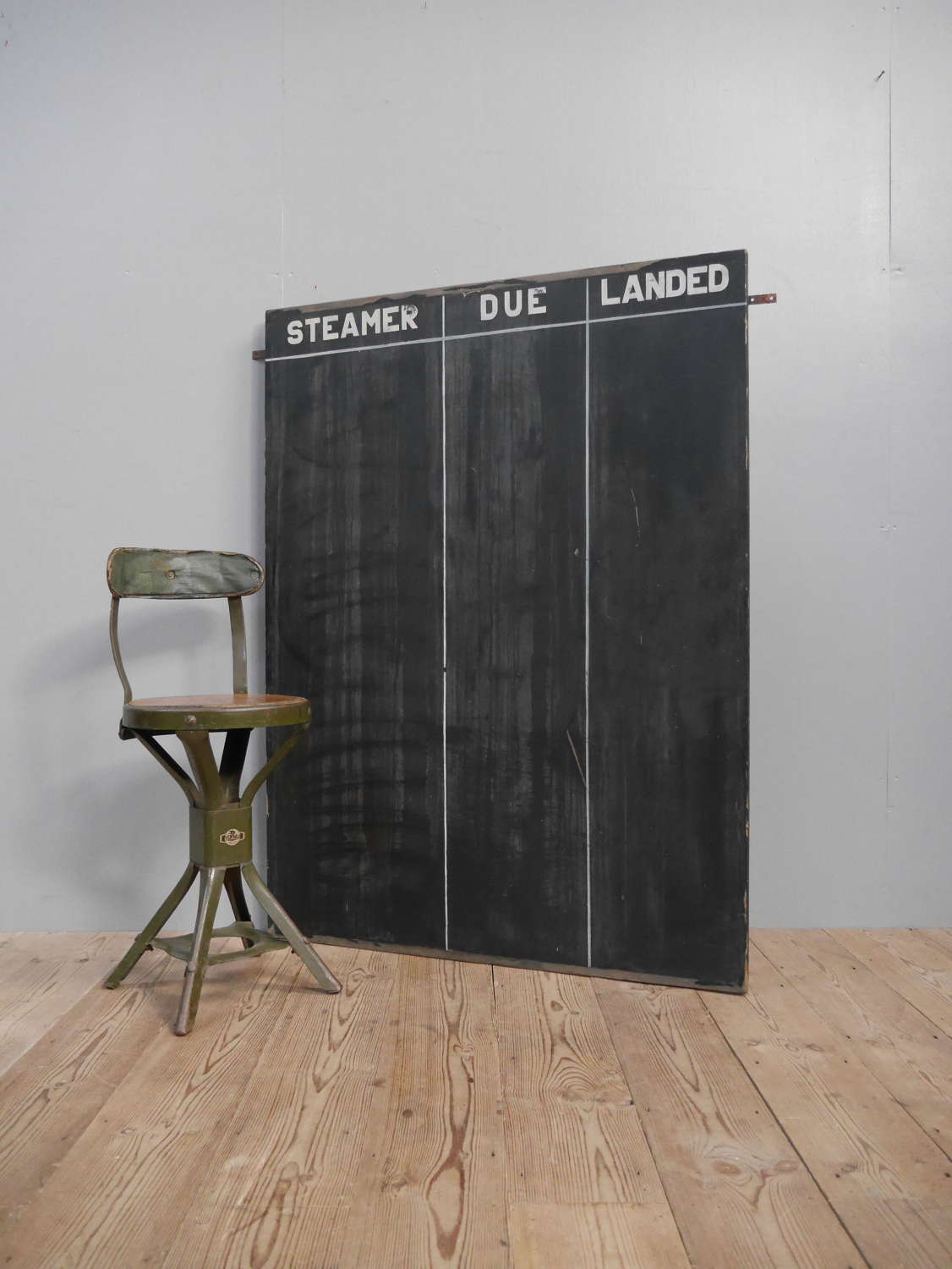 Large 1948 Dock Yard Blackboard