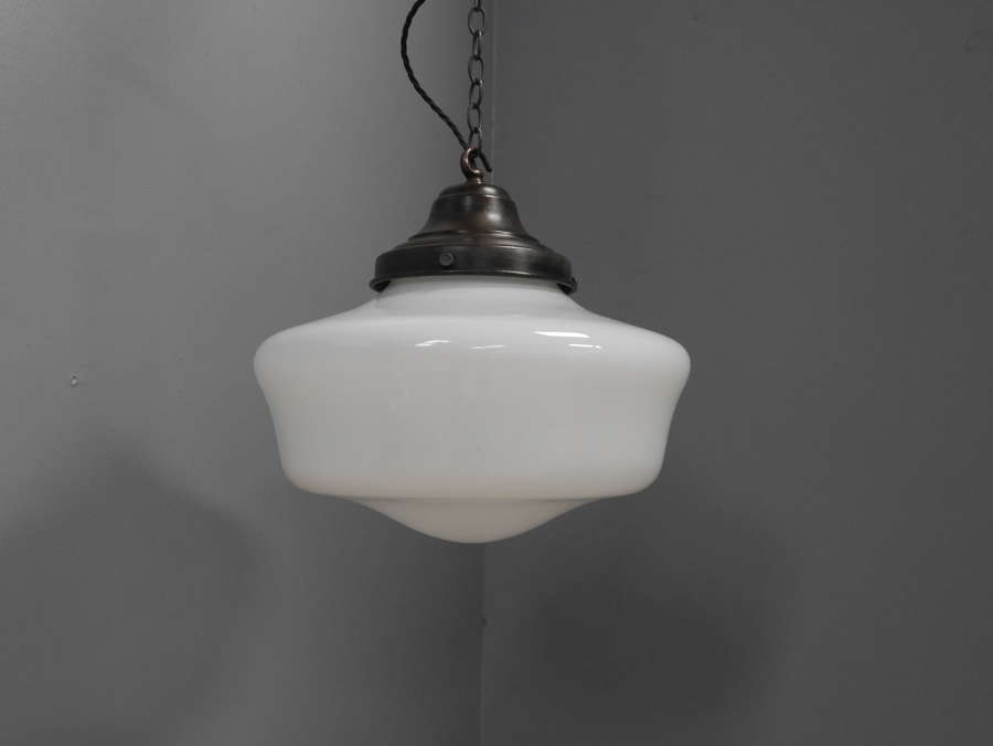 Large Opaline Pendant Light