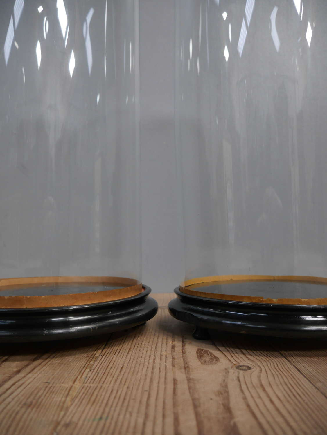 Pair of Victorian Glass Display Domes