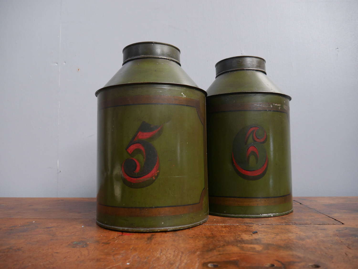 Tole Tea Canisters
