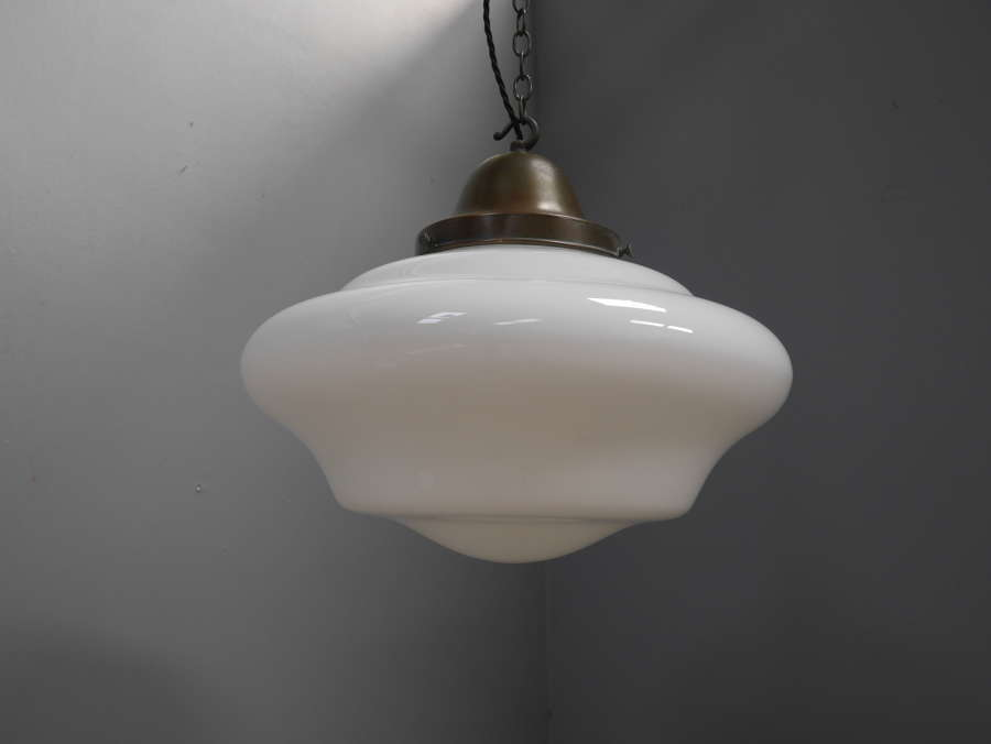 Extra Large Opaline Pendant Light