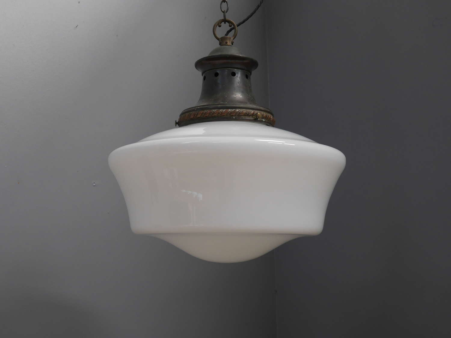 Extra Large Opaline Pendant Light