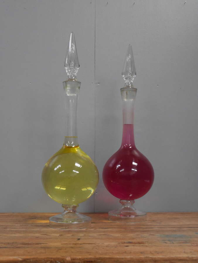 Pair Of Chemist Carboys