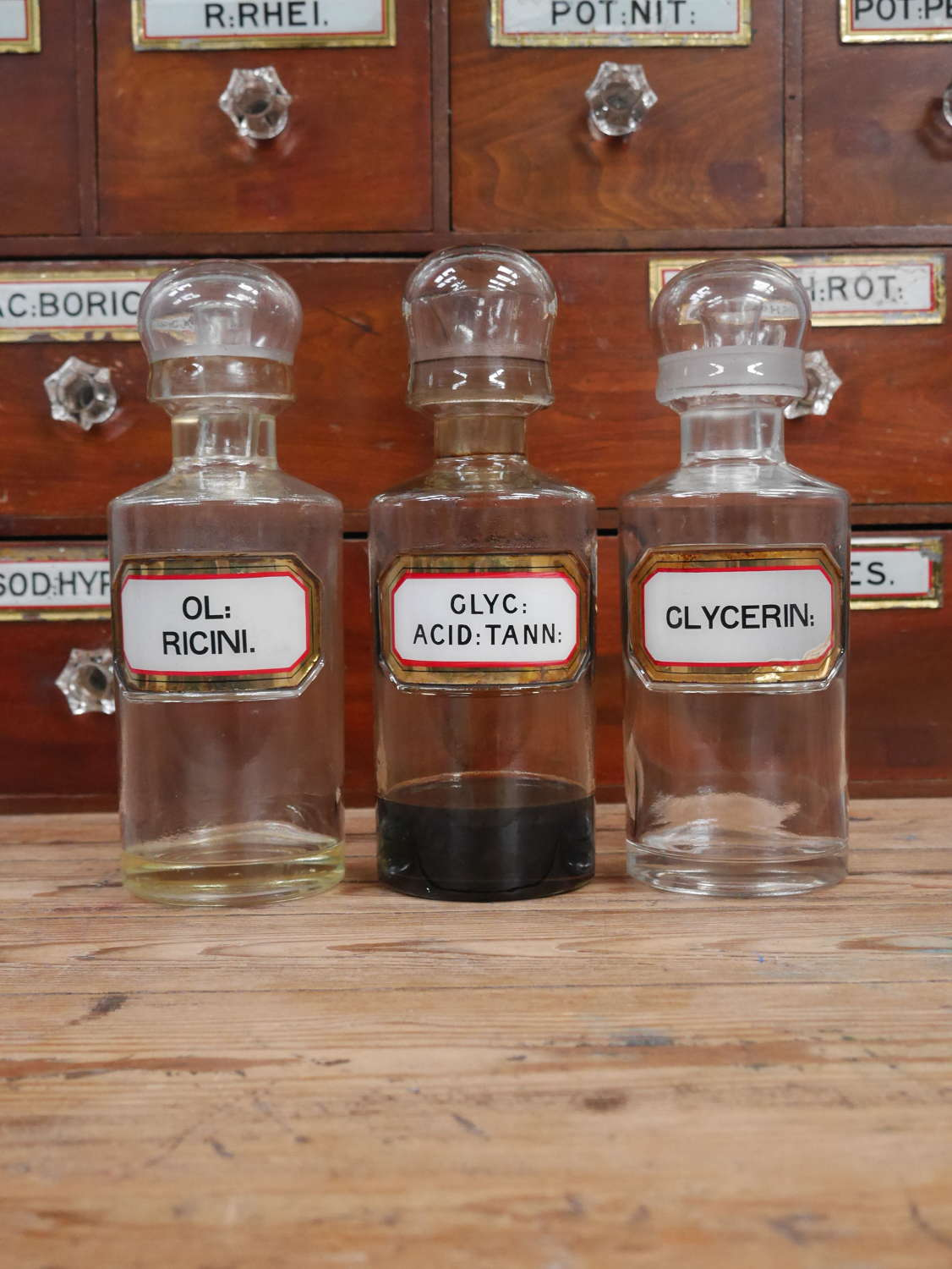 Large Apothecary Oil Bottles