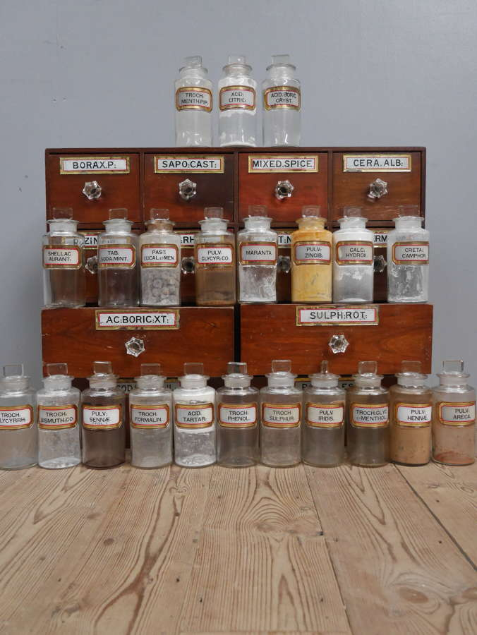 Twenty Two Apothecary Jars