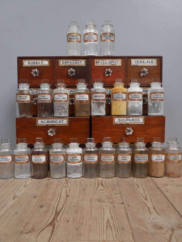 Twenty Two Apothecary Jars