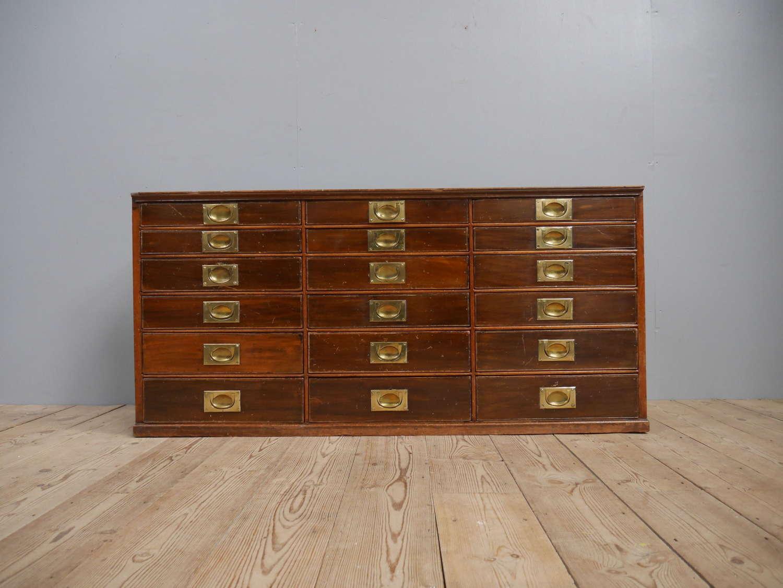 Mahogany & Brass Haberdashery Drawers