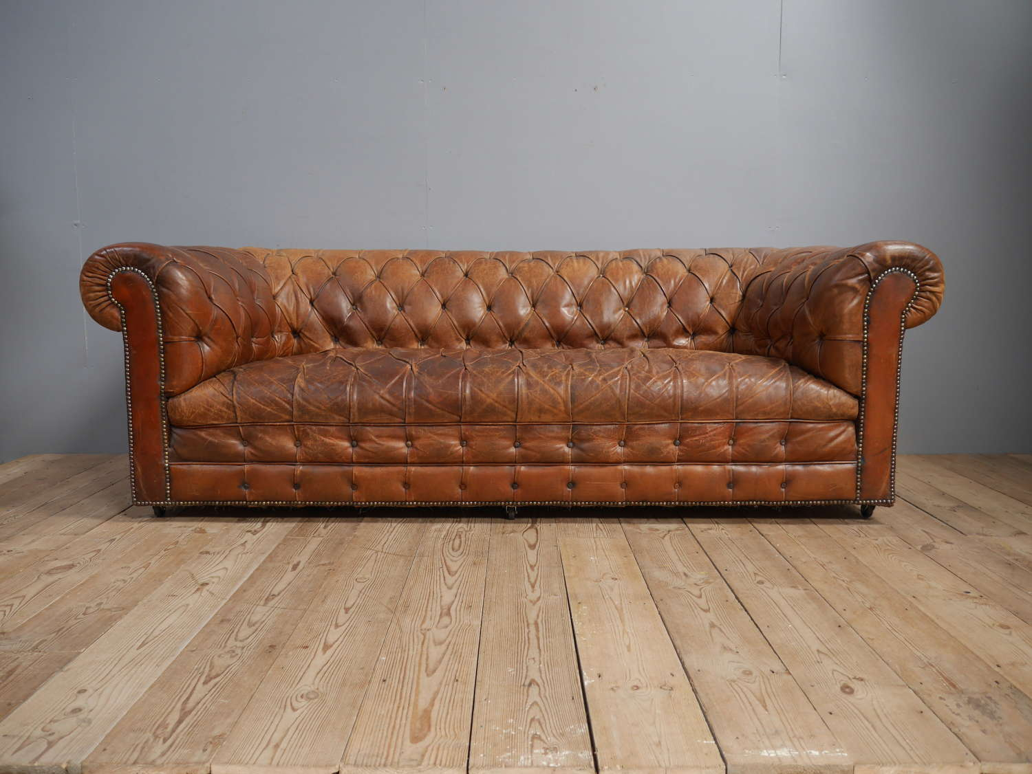 Leather Chesterfield Sofa c1930