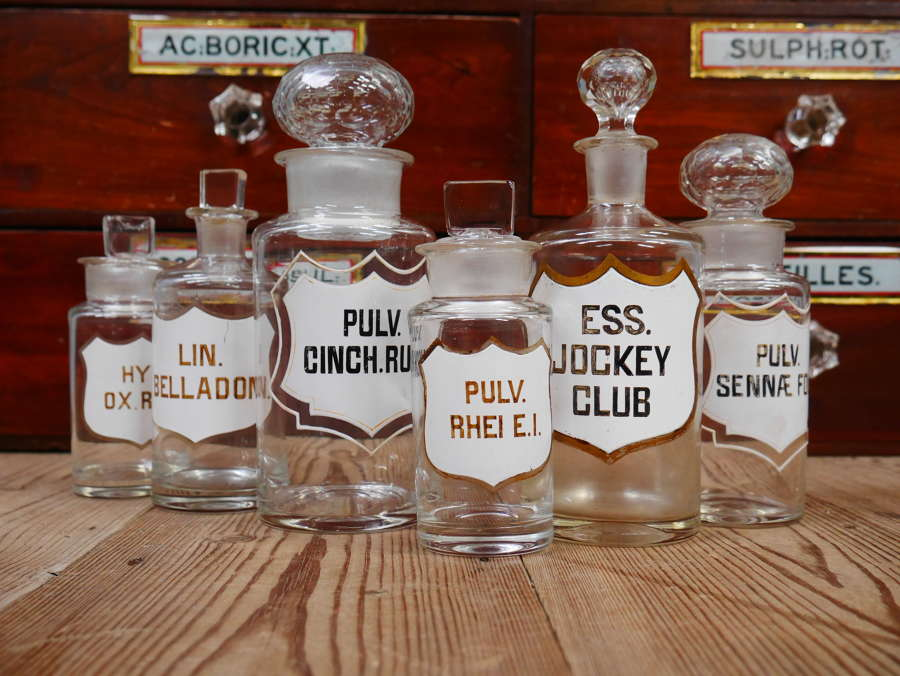 19th Century Apothecary Bottles