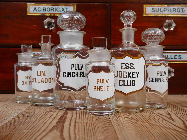 19th Century Apothecary Bottles