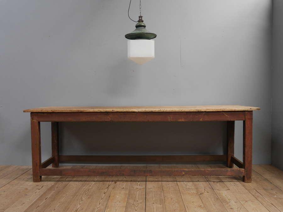 Georgian Mill Table In Original Paint