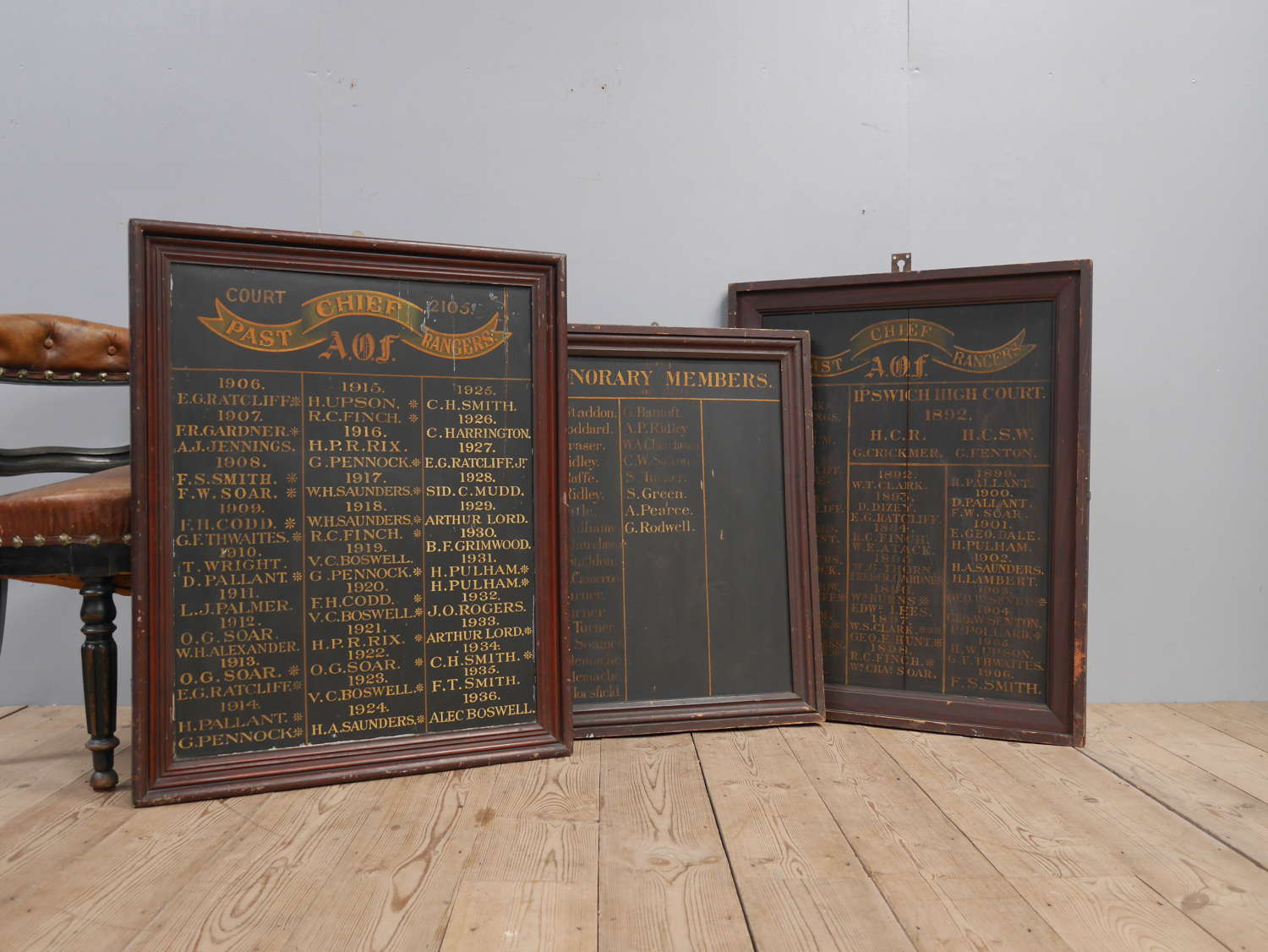 AOF Honours Boards