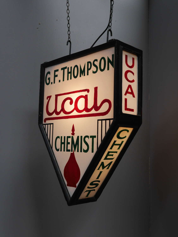 Illuminated Chemist Trade Sign