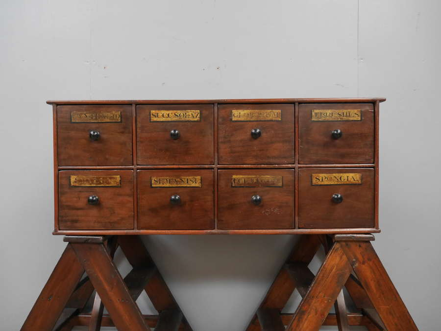 Bank of Eight Apothecary Drawers