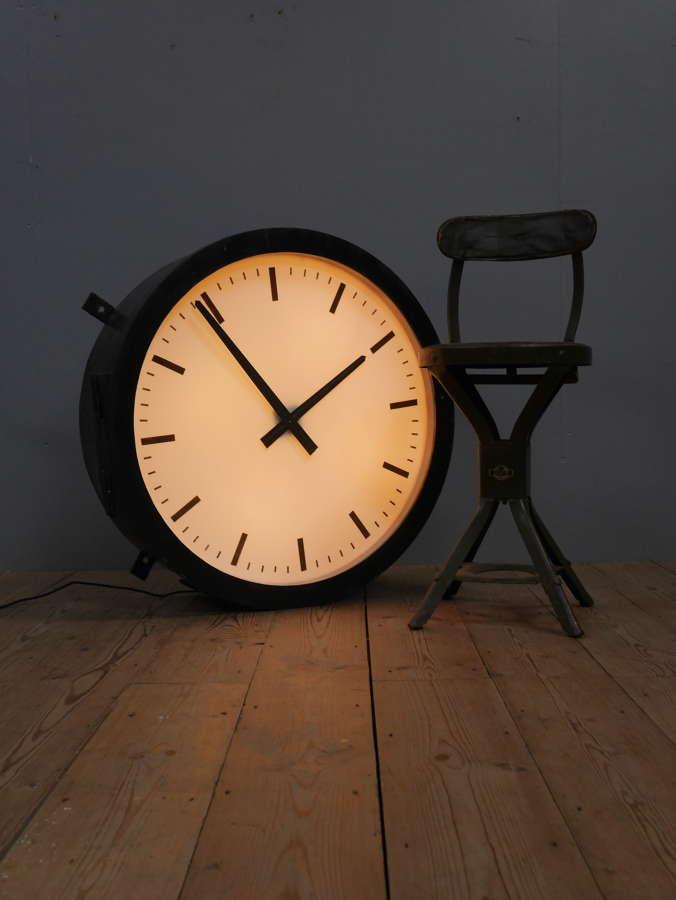 Huge Illuminated Industrial Clock