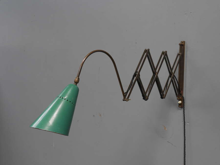 1950's Italian Brass Scissor Lamp
