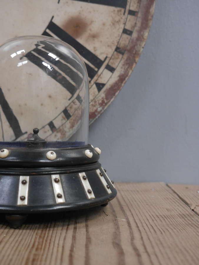 Colonial Ebony & Bone Watch Display Dome