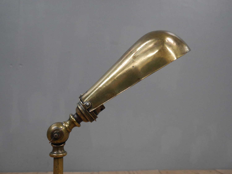 Early Brass Desk Lamp
