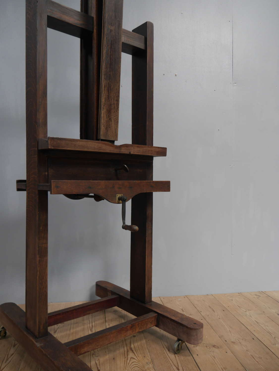 19th Century Parisian Oak Artist's Easel