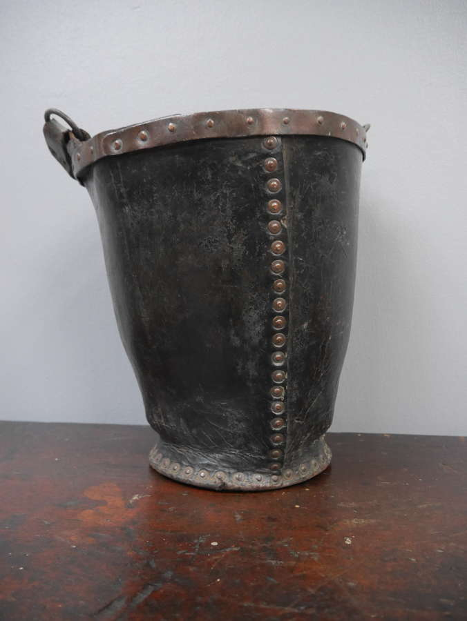 Leather Fire Bucket c1790 #1