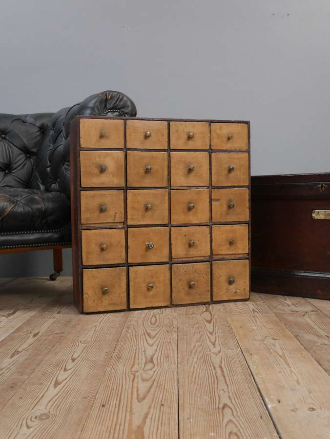 Bank Of 19th Century Seed Drawers