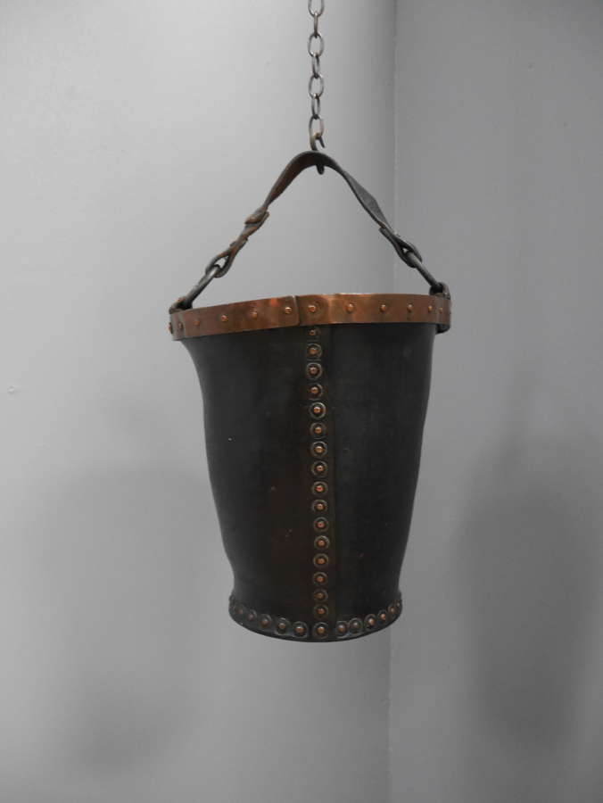 Leather Fire Bucket c1790 #2