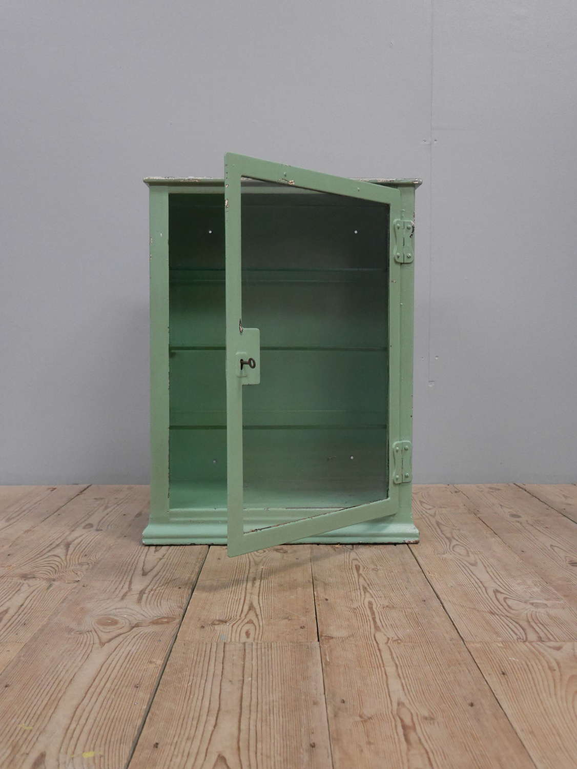 Pale Green Medical Cabinet