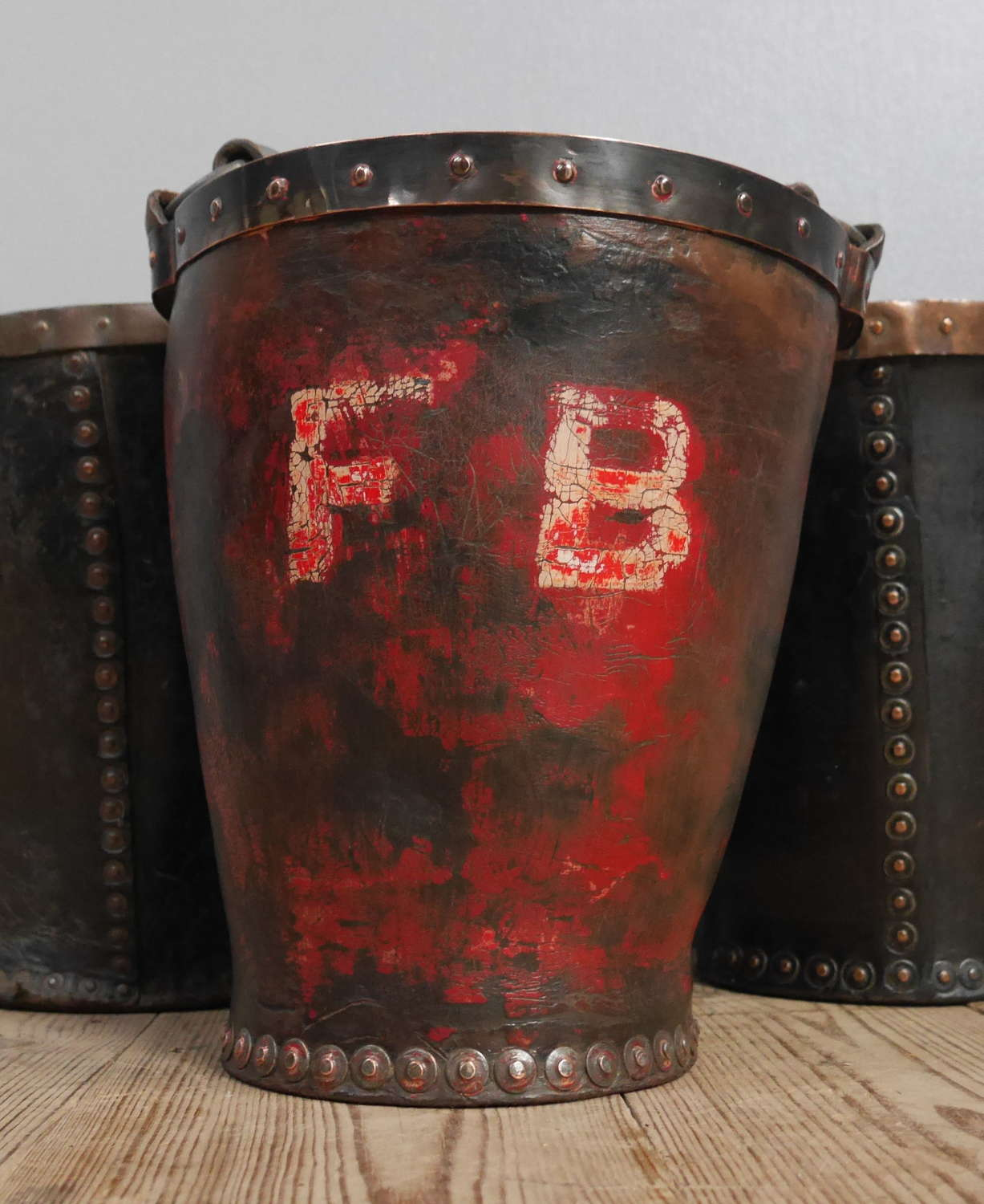Leather Fire Bucket c1790 #3