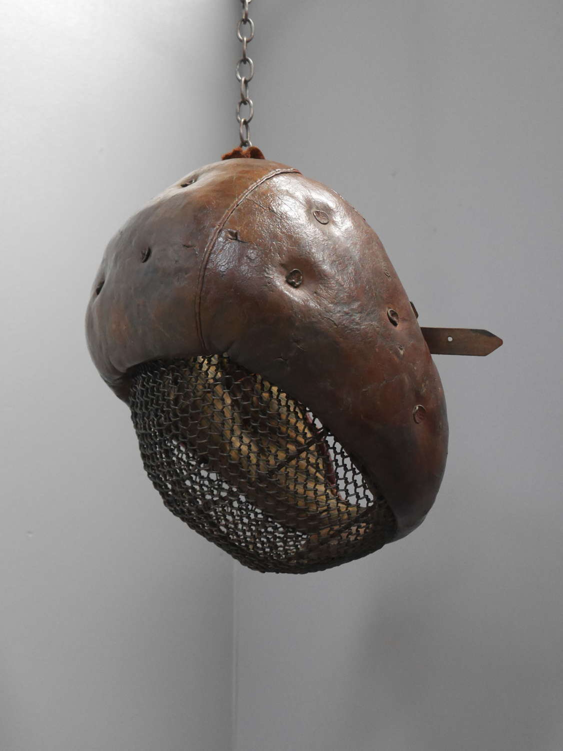 19th Century Leather Fencing Mask
