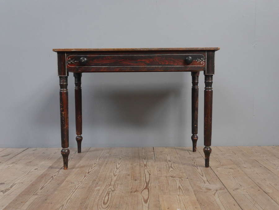 Faux Rosewood Regency Hall Table