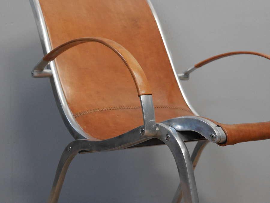 Rudolf Szedleczky Leather Lounge Chair
