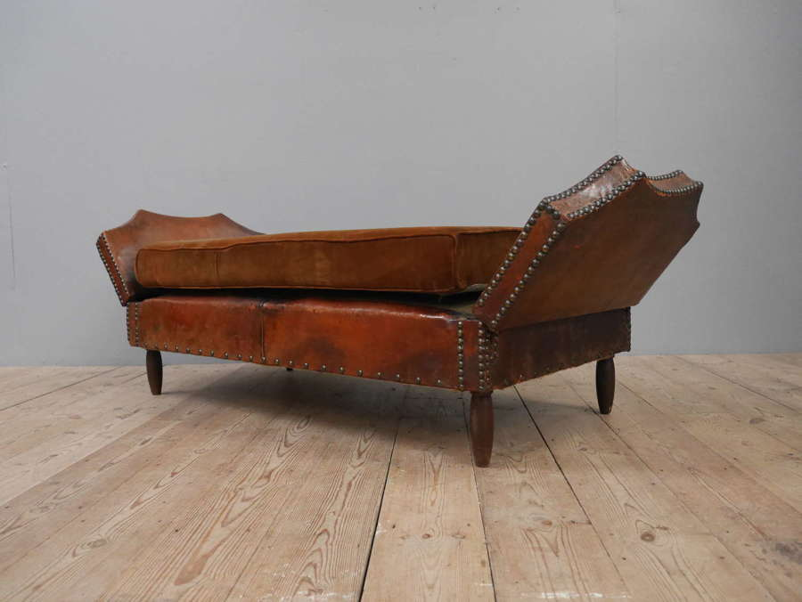 Double Drop Arm Leather Day Bed