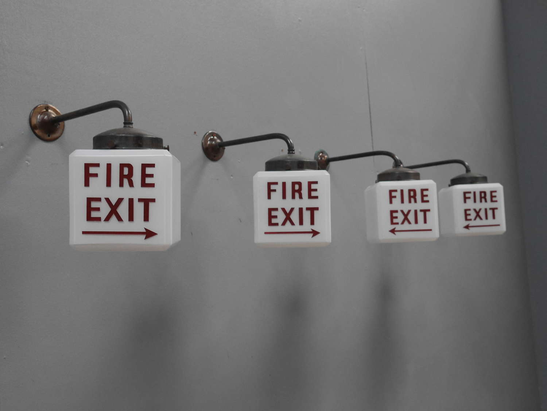Opaline Fire Exit Wall Light
