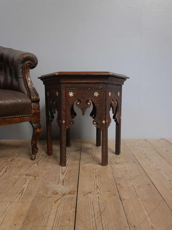 Moorish Eastern End Table