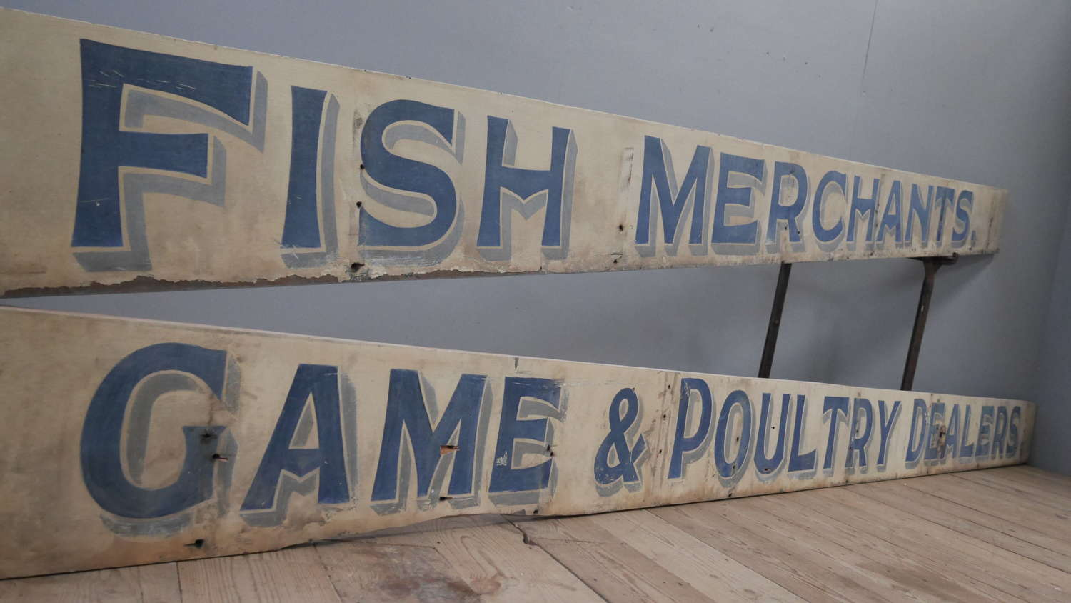Huge Late 19th Century Shop Signs