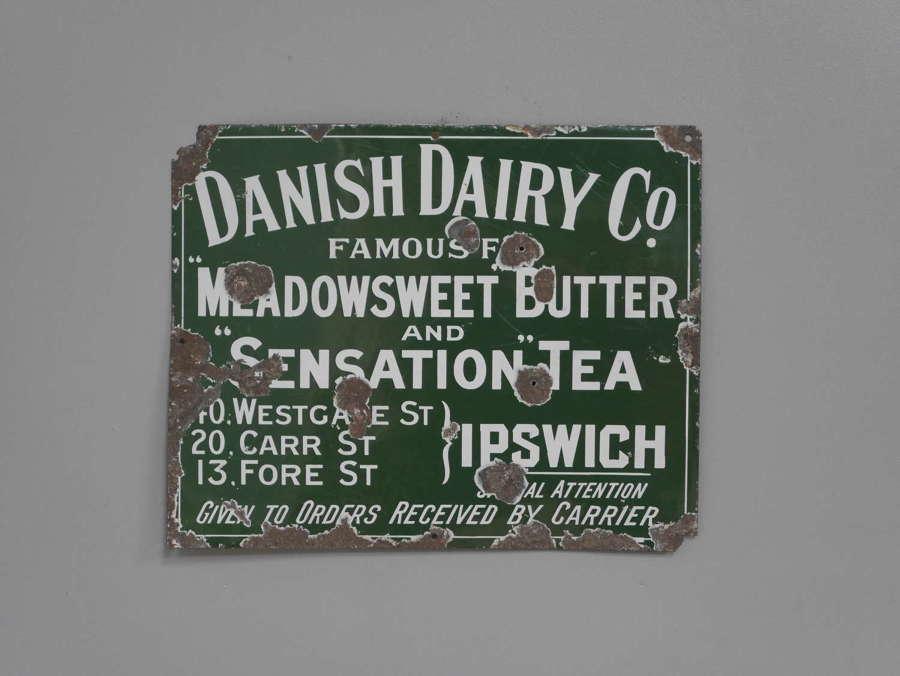 Enamel Dairy Sign