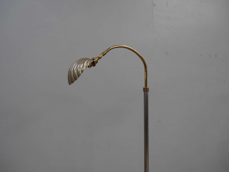 1920's Clam Shell Floor Lamp