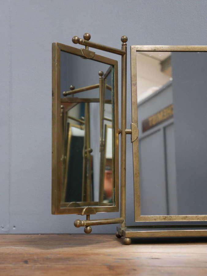 Brass Triptych Mirror
