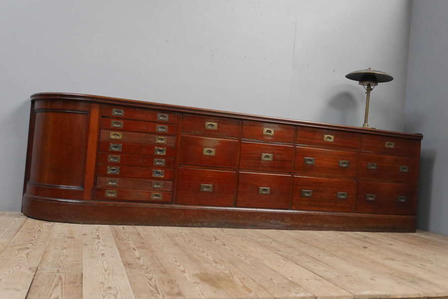 Huge Mahogany Jeweller's Counter