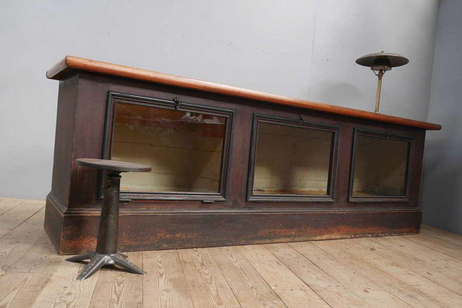 Large Glazed Shop Counter c1900